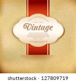 vector vintage background with... | Shutterstock .eps vector #127809719