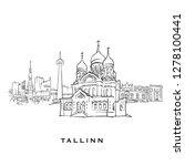 tallinn estonia famous... | Shutterstock .eps vector #1278100441