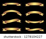 gold vector ribbons and banners ... | Shutterstock .eps vector #1278104227