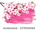 spring nature background with... | Shutterstock .eps vector #1278104464