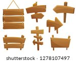 wooden sign boards cartoon... | Shutterstock .eps vector #1278107497