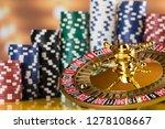roulette wheel running in a... | Shutterstock . vector #1278108667