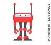 cute robot  vector cartoon... | Shutterstock .eps vector #1278109021