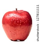 Wet Red Delicious Apple...