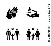 child custody glyph icons set....   Shutterstock .eps vector #1278113641