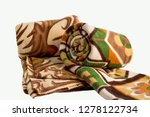 two brown color soft polar... | Shutterstock . vector #1278122734