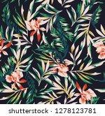 Stock vector seamless flower pattern 1278123781