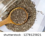 nutritious chia seeds in a... | Shutterstock . vector #1278125821