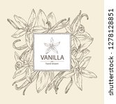 background with vanilla  flower ... | Shutterstock .eps vector #1278128851
