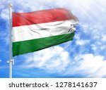 national flag of hungary on a... | Shutterstock . vector #1278141637