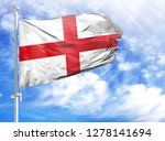 national flag of england on a... | Shutterstock . vector #1278141694