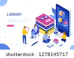 media book library concept. can ... | Shutterstock .eps vector #1278145717