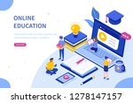online education and digital... | Shutterstock .eps vector #1278147157