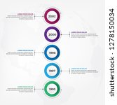 vertical timeline infographic... | Shutterstock .eps vector #1278150034