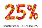 vector autumn sale 25  off... | Shutterstock .eps vector #1278153397