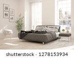 white bedroom with winter... | Shutterstock . vector #1278153934