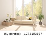 white room with sofa and autumn ... | Shutterstock . vector #1278153937