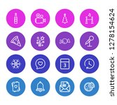 illustration of 16 event icons... | Shutterstock . vector #1278154624