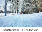 snow covered winter road... | Shutterstock . vector #1278154954