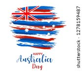 happy australia day. map of... | Shutterstock .eps vector #1278159487