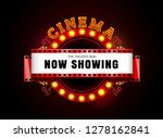 theater sign theater glowing... | Shutterstock .eps vector #1278162841