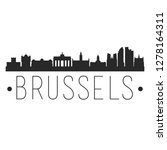 brussels belgium. city skyline. ... | Shutterstock .eps vector #1278164311