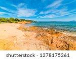 red rocks in romazzino beach in ... | Shutterstock . vector #1278175261