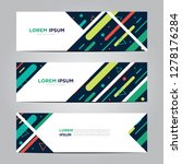 banner with flat geometric... | Shutterstock .eps vector #1278176284