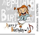 happy birthday smile girl | Shutterstock .eps vector #127817891