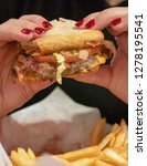 bar food   bar burger being...