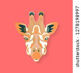 giraffe label design. abstract... | Shutterstock .eps vector #1278198997
