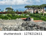 pompeii is the most visited... | Shutterstock . vector #1278212611