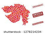 geographic combination of dot... | Shutterstock .eps vector #1278214234