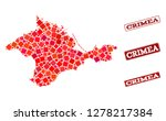geographic collage of dot... | Shutterstock .eps vector #1278217384