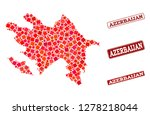 geographic collage of dot... | Shutterstock .eps vector #1278218044