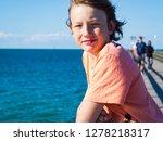 happy teenager boy standing on...   Shutterstock . vector #1278218317