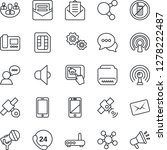 thin line icon set   no mobile...   Shutterstock .eps vector #1278222487
