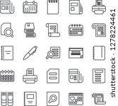 thin line icon set   book... | Shutterstock .eps vector #1278224461