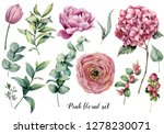 hand painted floral set....   Shutterstock . vector #1278230071
