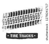 tire track print. car or... | Shutterstock .eps vector #1278241717