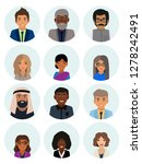 male and female faces avatars.... | Shutterstock .eps vector #1278242491