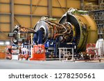 jet engine remove from aircraft ... | Shutterstock . vector #1278250561