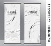 roll up business brochure flyer ... | Shutterstock .eps vector #1278253381
