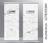 roll up business brochure flyer ... | Shutterstock .eps vector #1278253384