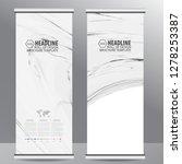 roll up business brochure flyer ... | Shutterstock .eps vector #1278253387