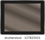 realistic tablet pc computer...   Shutterstock . vector #127825421