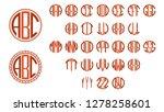 monogram circle letters  art... | Shutterstock .eps vector #1278258601