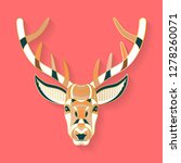 deer label design. abstract... | Shutterstock .eps vector #1278260071