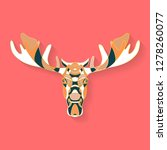 elk label design. abstract... | Shutterstock .eps vector #1278260077