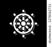 rudder. white flat simple icon...   Shutterstock .eps vector #1278262711
